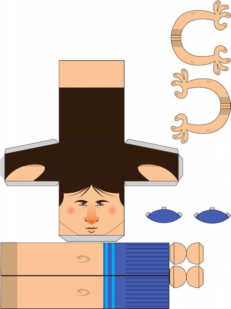 paper toy messi