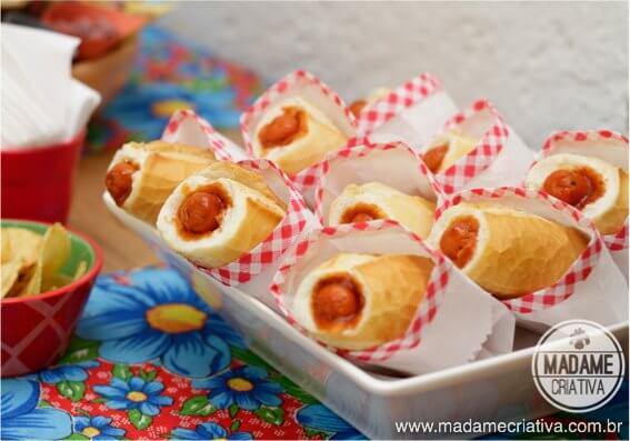 receita hot dog pao frances aniversario