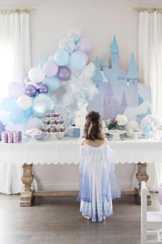 fantasia e decoracao festa frozen
